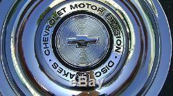 Rally Wheel Center Cap 66 67 Flat Disc Brake 4pc GM Restoration Parts hub caps