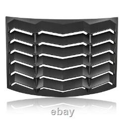 Rear Window Louver Sun Shade Cover Black for 2010-2015 Chevy Camaro Replacement