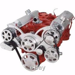 SBC Serpentine Pulley Conversion Kit Small Block Chevy 350 AC A/C SWP Air