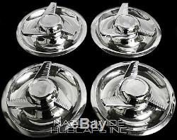 SET OF 4 Chevy GM Rally Wheel Center Hub Caps & 15X7 15 Trim Rings Beauty Rims