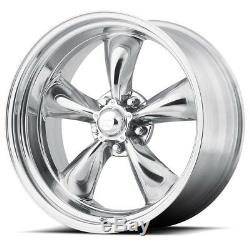Set 4 15 Torq Thrust 2 VN515 Polished Classic Wheel 15x7 Front 15x8 Rear 5x4.75