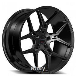 Set(4)/New 20 Staggered Giovanna Wheels Haleb Black Popular Rims