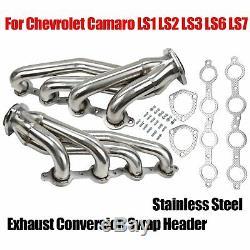 Stainless Steel Exhaust Conversion Swap Header Manifold for LS1 LS2 LS3 LS6 LS7
