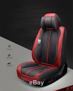 Standard Luxury Leather 5-Seat Car Seat Cover Cushion For Interior Accessories