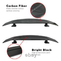 Universal Car Tail-free Trunk Spoiler Drill-free Rear Wing Carbon Fiber Look 52