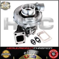 Universal Performance Turbo Charger Kit T3/T4+Intercooler+Bov+Wastegate Black
