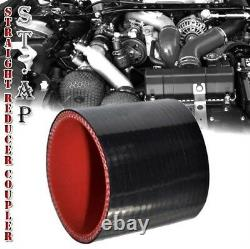 Universal Turbo 28Intercooler+2.58Pc Aluminum Piping Kit Pipe Black 3 Ply Hose