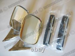Vintique Chrome Oblong Mirrors Classic Musclecar Restomod Hotrod Complete Kit