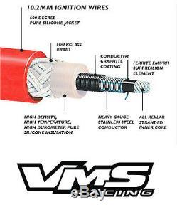 Vms Racing 10.2mm Spark Plug Wire Set Camaro Corvette Ls1 Ls2 Ls3 Ls6 Ls7 Ls9