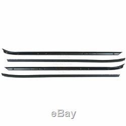 Window Sweeps Felts Weatherstrip Kit Set of 4 for 70-81 Camaro Firebird Trans Am