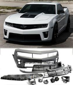 ZL1 Style Front Bumper For 10-13 Camaro with Upper Lower Grille & Fog Lights