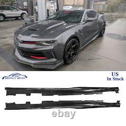 ZL1 Style Side Skirts Rocker Panels Extension For 2016-2020 Chevy Camaro SS RS